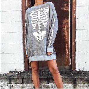 Wildfox X-Ray Vision Skeleton Road Trip Sweatshirt
